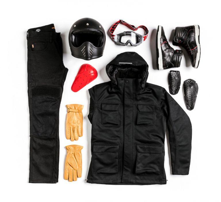 Motorcycle gear, pants, jacket, gloves, boots, helmet, impact protectors, style rider, ducati scrambler