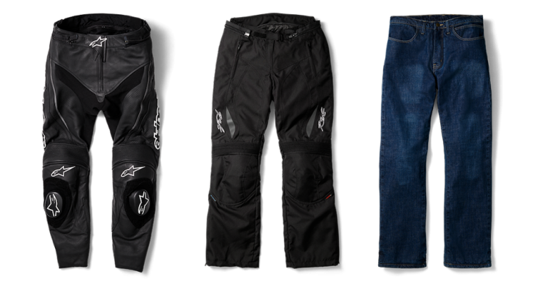Motorcycle gear, pants, impact protection