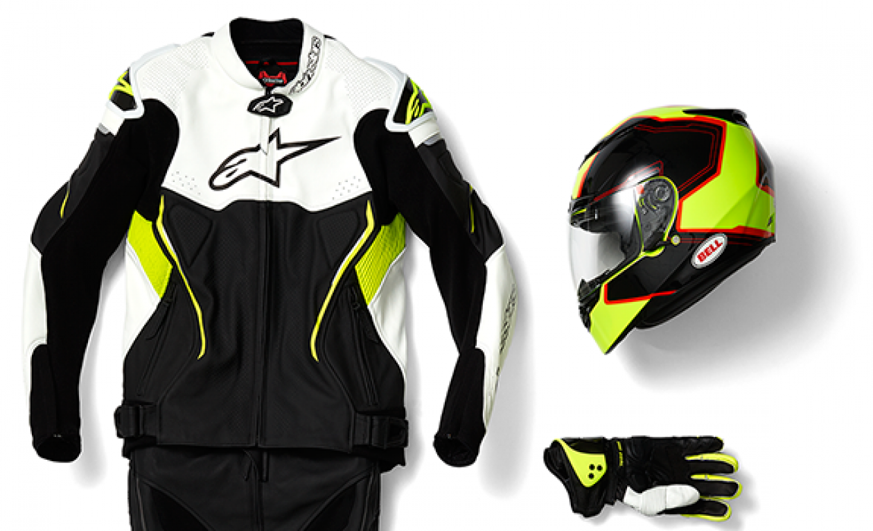 Motorcycle Kit, jacket, gloves, helmet pants