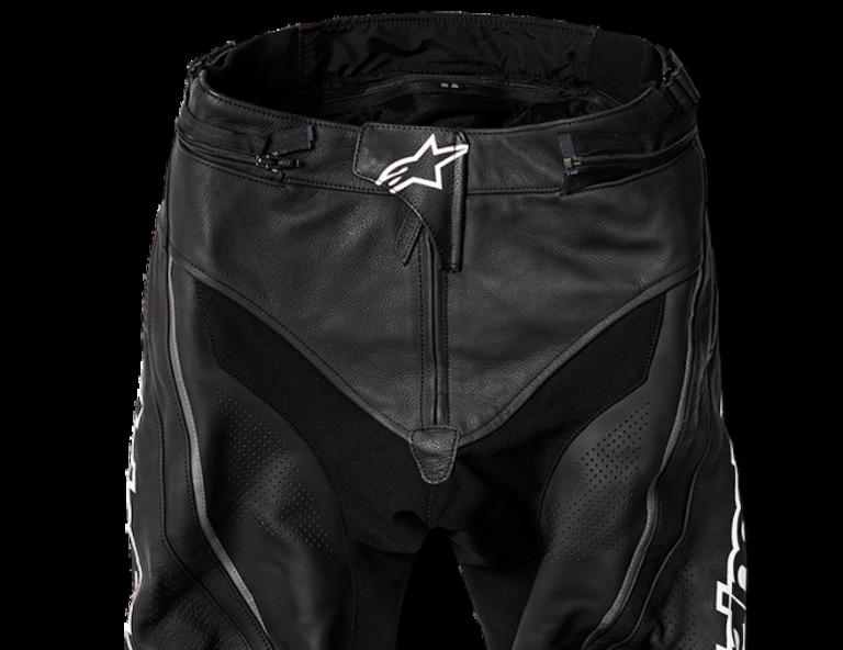 Motorcycle gear, pants, shielding panels
